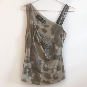 Miss Me Studded tie wash tank top